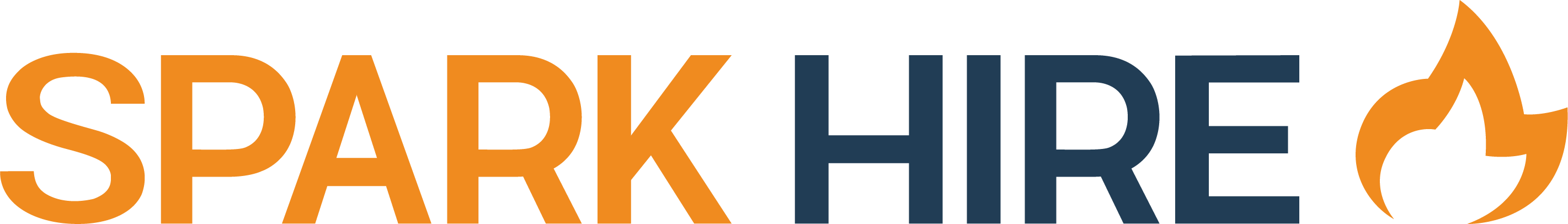 Spark Hire Logo - Orange and Blue
